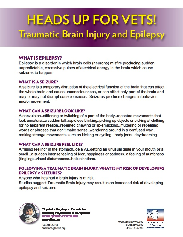 Epilepsy poster (text on web page)